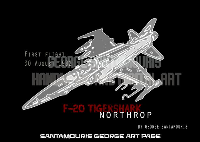 F-20 TIGERSHARK COMIC by SANTAMOURIS1978
