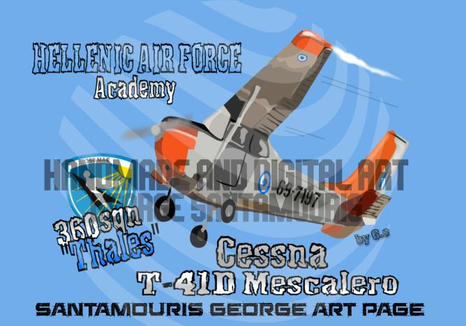 HAF ACADEMY 360 SQN CESSNA T-41D MESCALERO by SANTAMOURIS1978