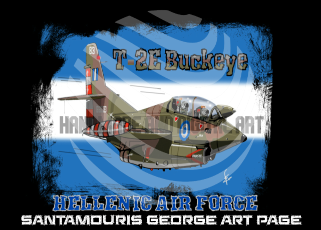 HAF T-2E Buckeye Caricature by SANTAMOURIS1978