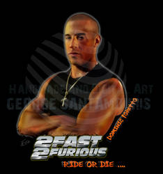 2 FAST 2 FURIOUS  DOMINIC TORETTO by SANTAMOURIS1978