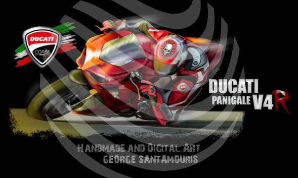 DUCATI PANIGALE V4 R by SANTAMOURIS1978