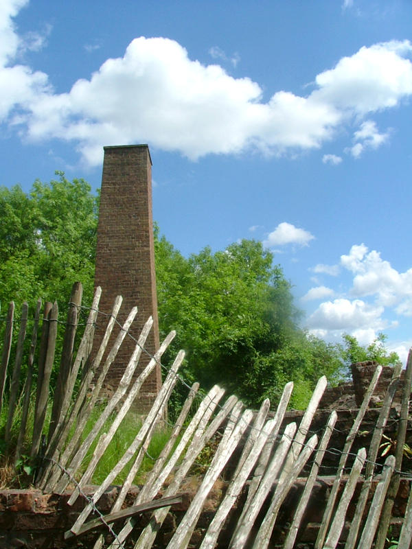 chimney and fence against blue by fake-sincerity