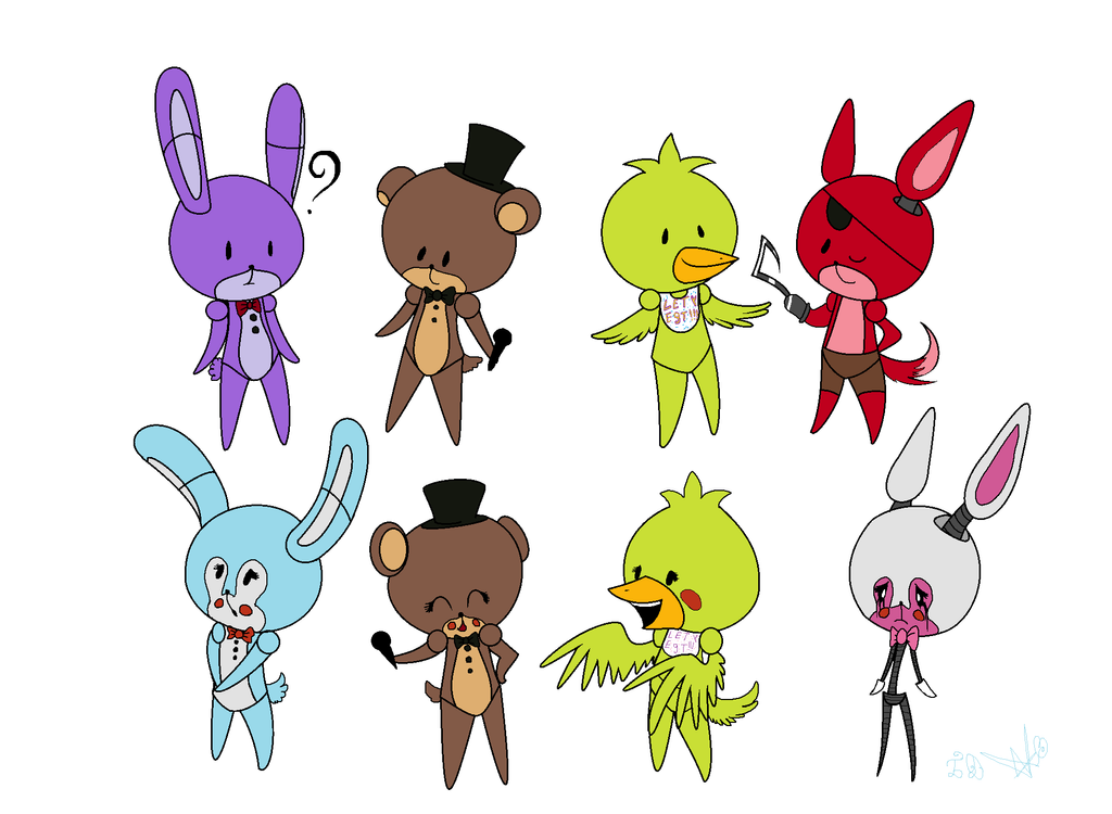 Fnaf characters drawings fnaf and fnaf 2 characters by