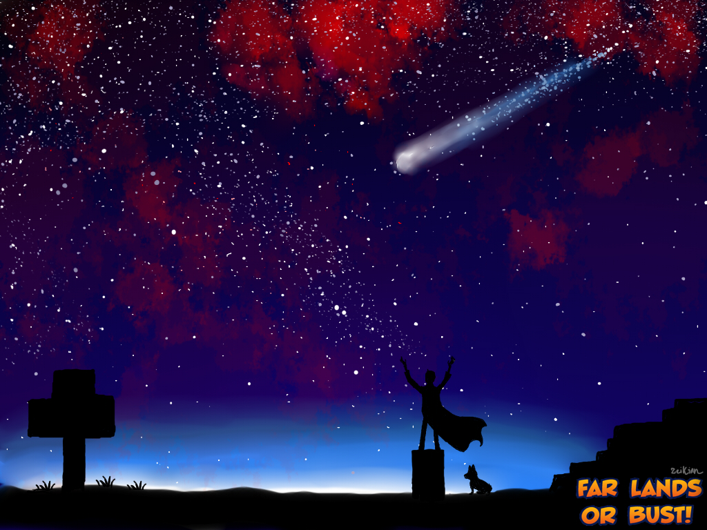 Kurt Watching The Sky by Zeikinn