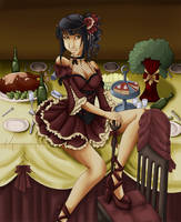 Dinner table by Dracuria