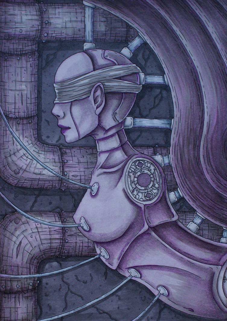 Purple Biomech by Dracuria