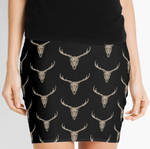 Stag Skul Skirt by Dracuria