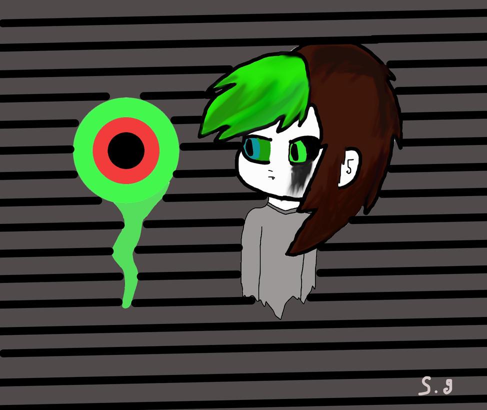 antisepticeye(female version)FanArt by Shotgungamer8