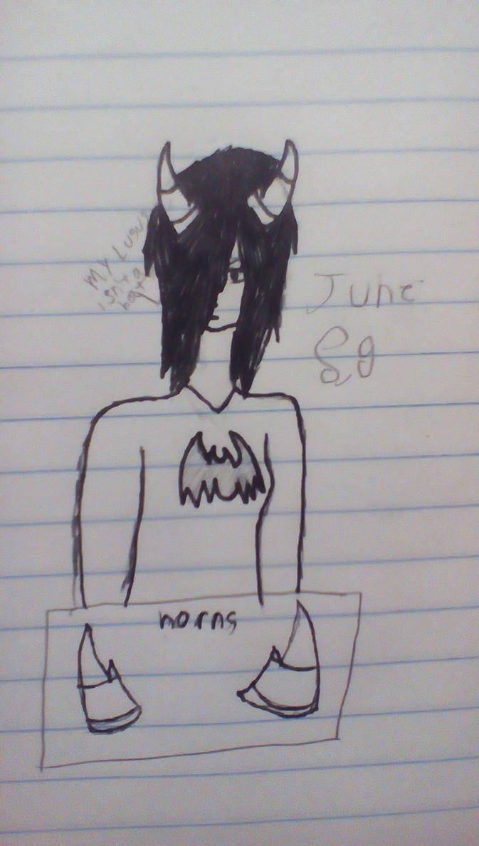 June's new horns by Shotgungamer8
