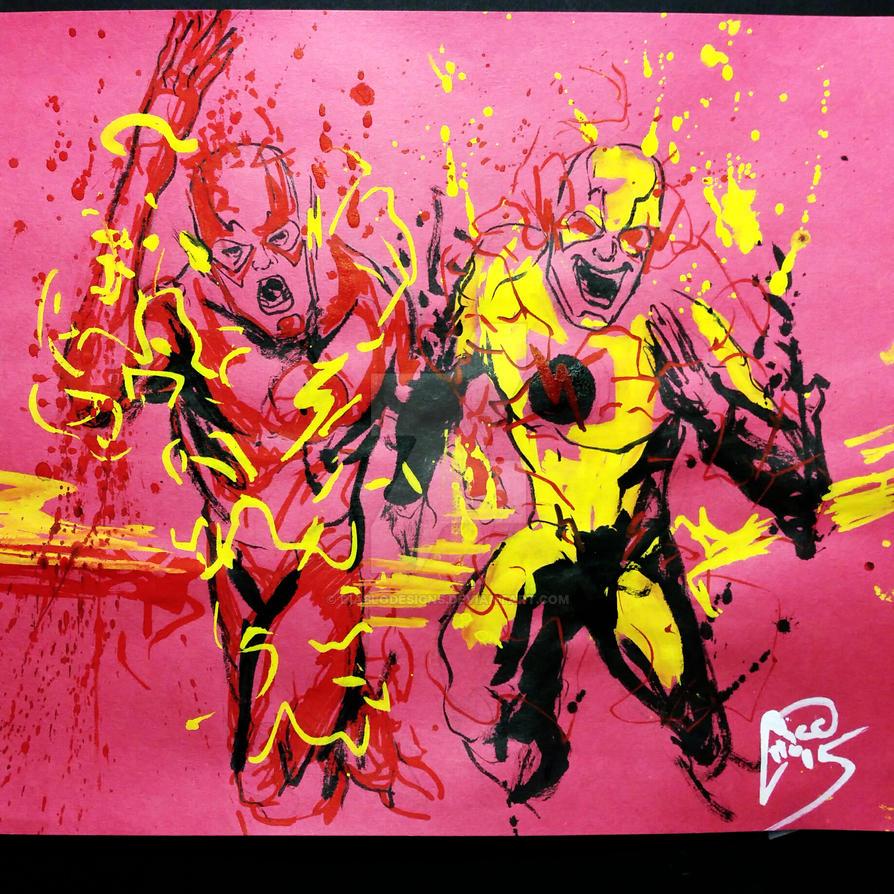 ....run, Barry.....RUUUNNN!!! by diablodesigns