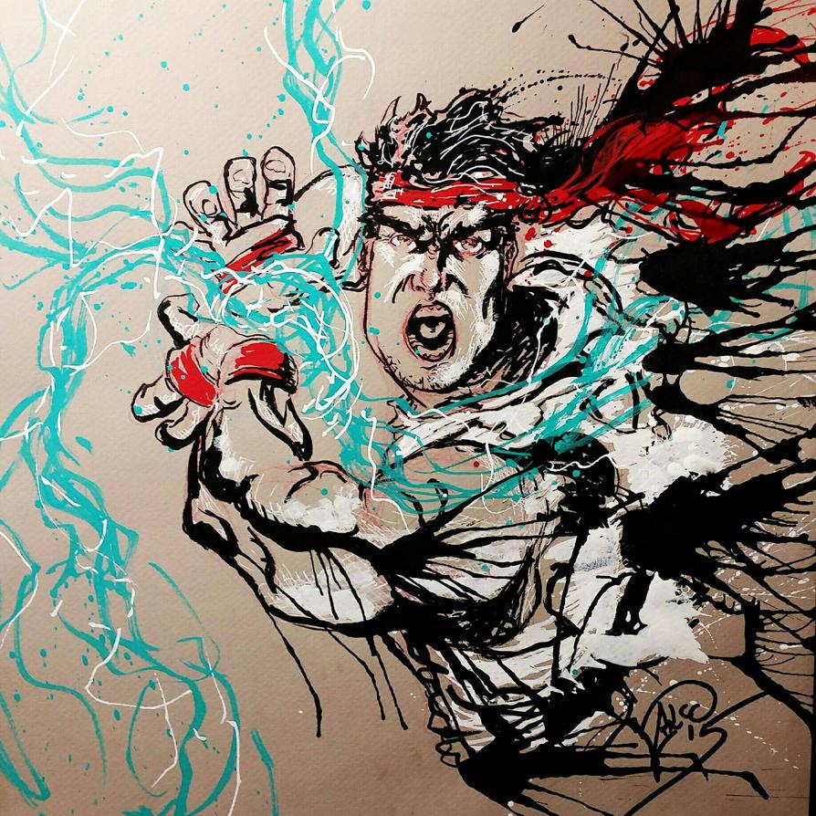 Happy belated birthday Ryu by diablodesigns