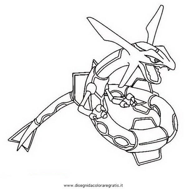 Rayquaza from pokemon by kallen11 on deviantart for Rayquaza coloring pages