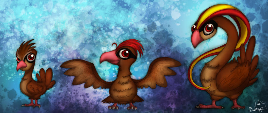 Pidgey, Pidgeotto, Pidgeot by Phillippeaux