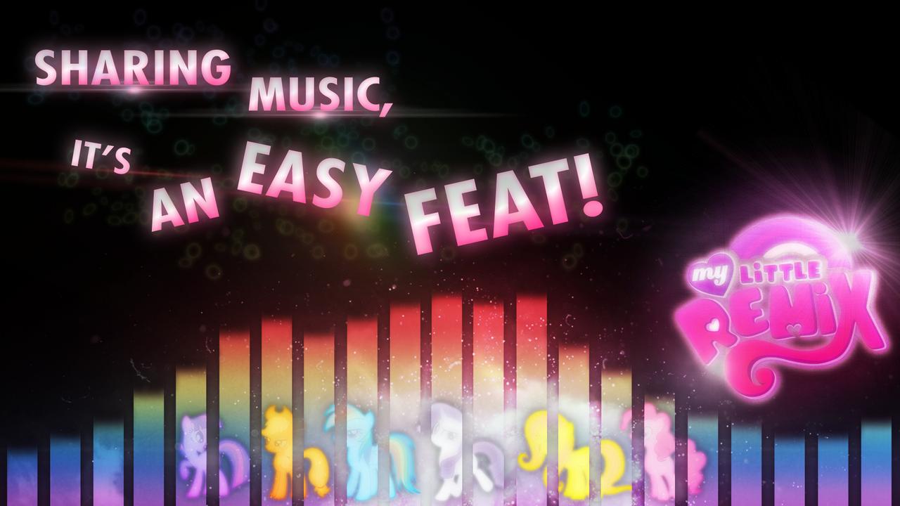 Sharing Music - MyLittleRemix by KibbieTheGreat