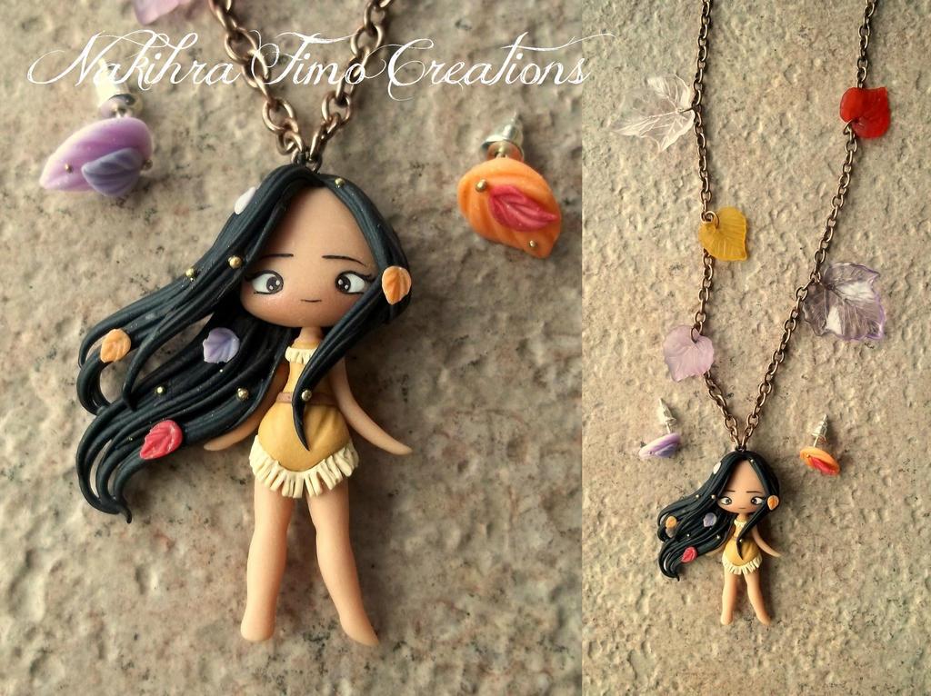 Pocahontas polymer clay by Nakihra