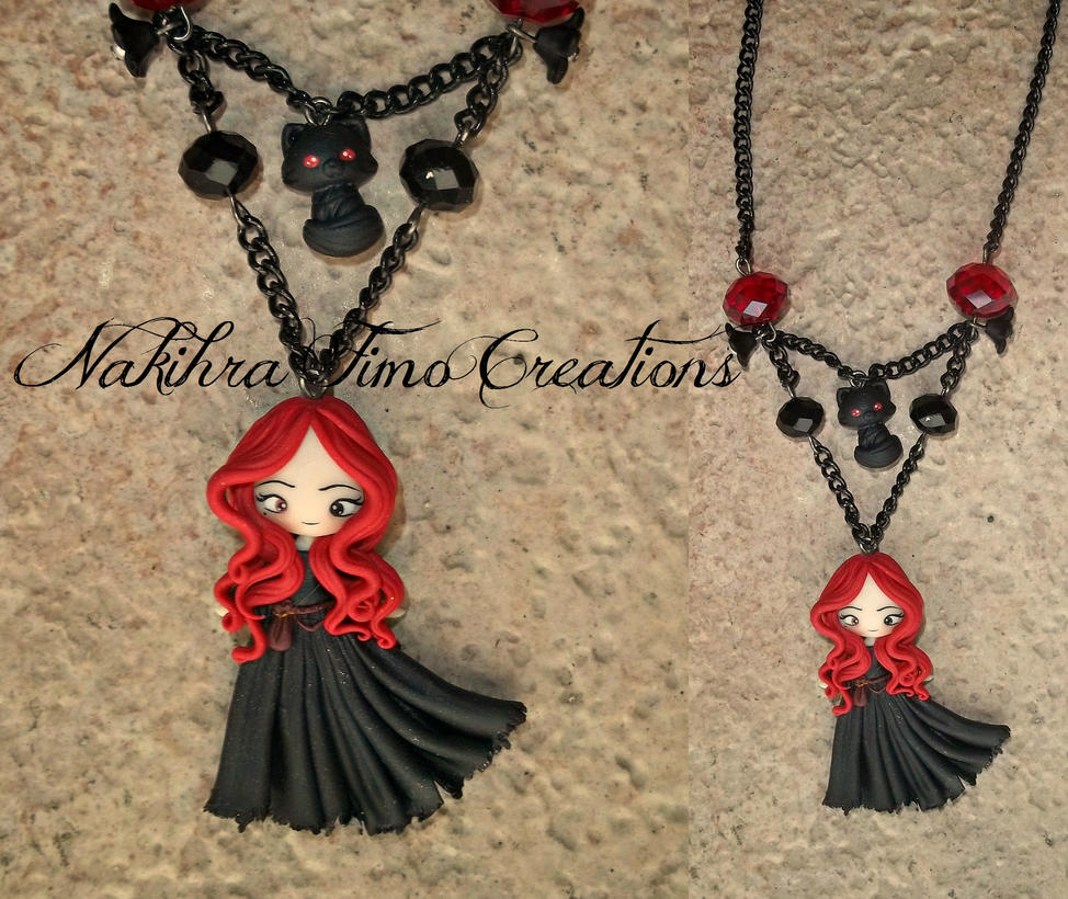 Wicca Witch Polymer Clay by Nakihra