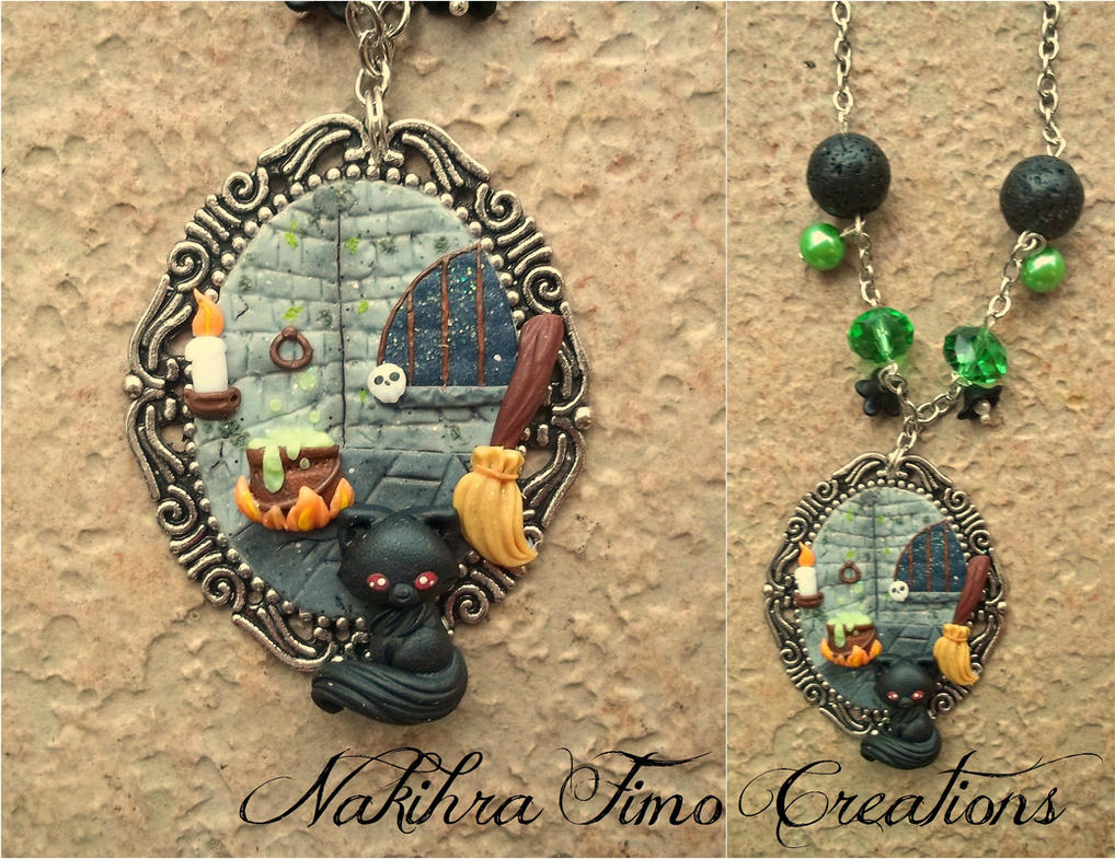 Witch's Lab Cammeo Polymer Clay by Nakihra