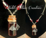 Bottled Blood With Bat Polymer Clay