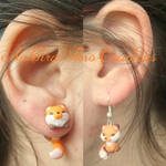 Cute Fox Earrings Polymer Clay