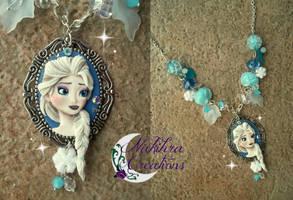 Elsa cameo polymer clay by Nakihra