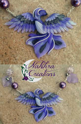 Purple Phoenix Polymer Clay by Nakihra