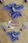 Purple Phoenix Polymer Clay