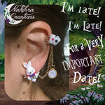 White Rabbit Earring