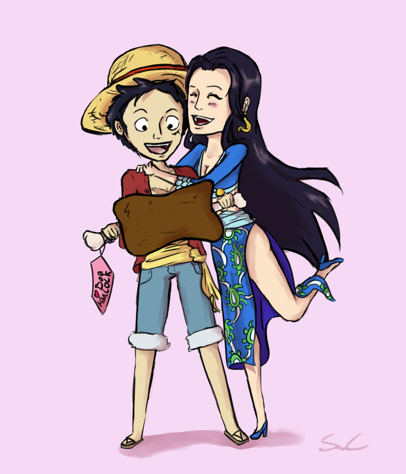 Luffy x hancock by masantaq on deviantart - One piece luffy x hancock ...