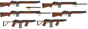 Rifle Model 3 and carbines