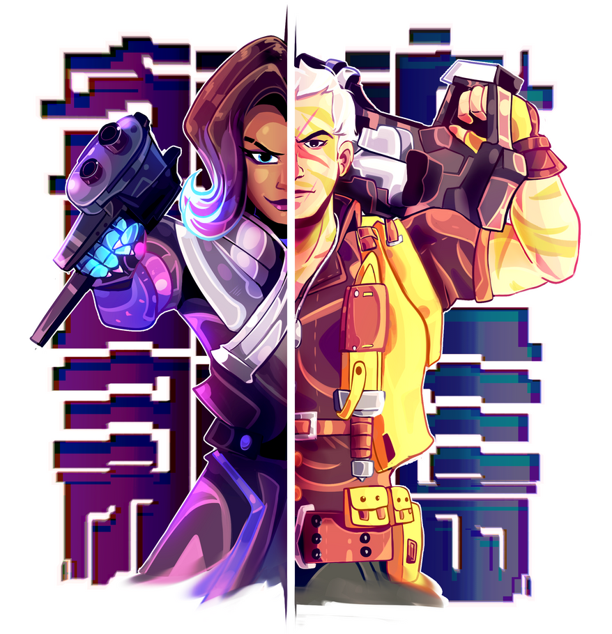 Sombra Soldier Commission by MarlonLeal