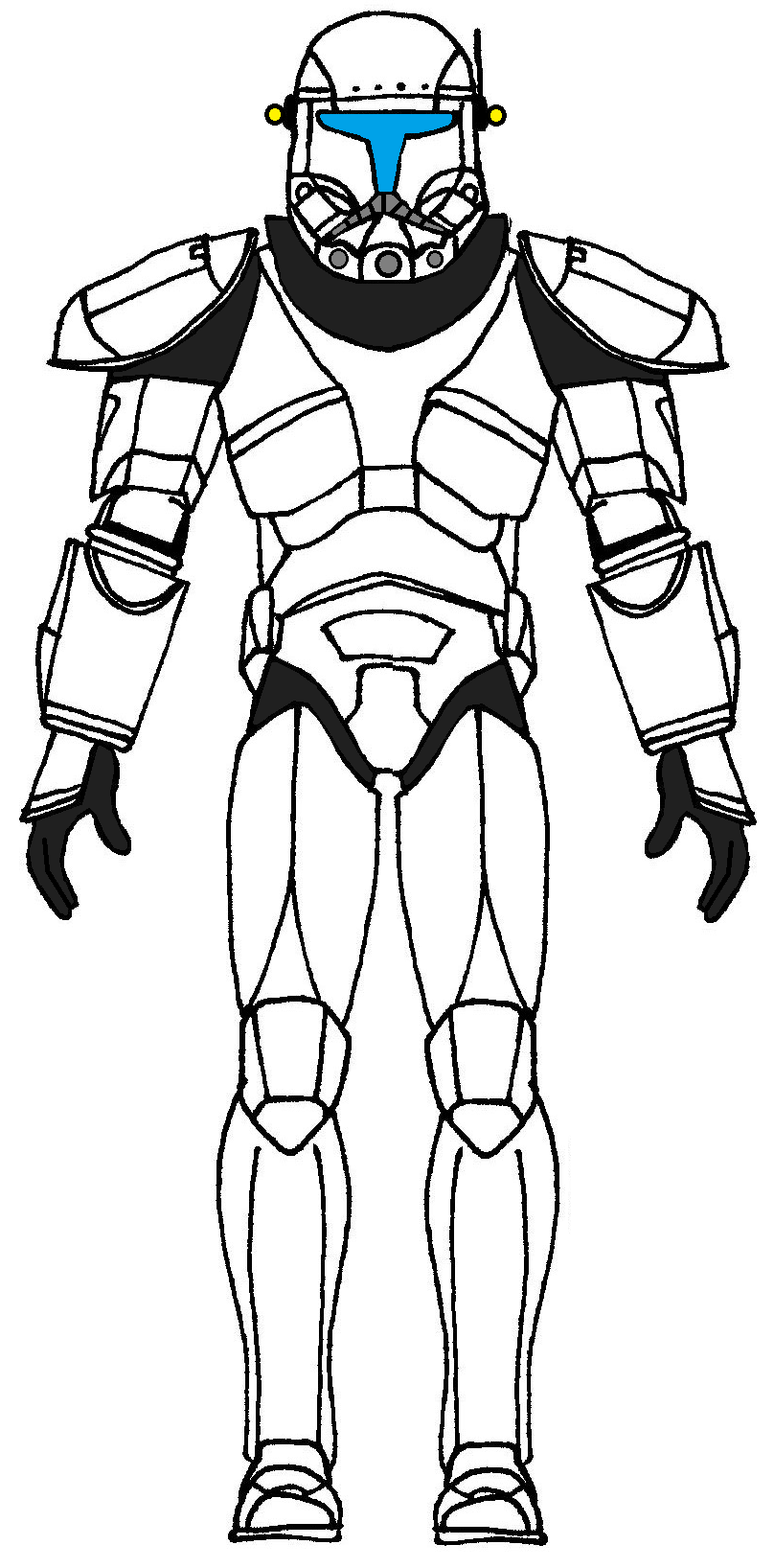 coloring pages clone trooper armor pictures to pin on pinterest