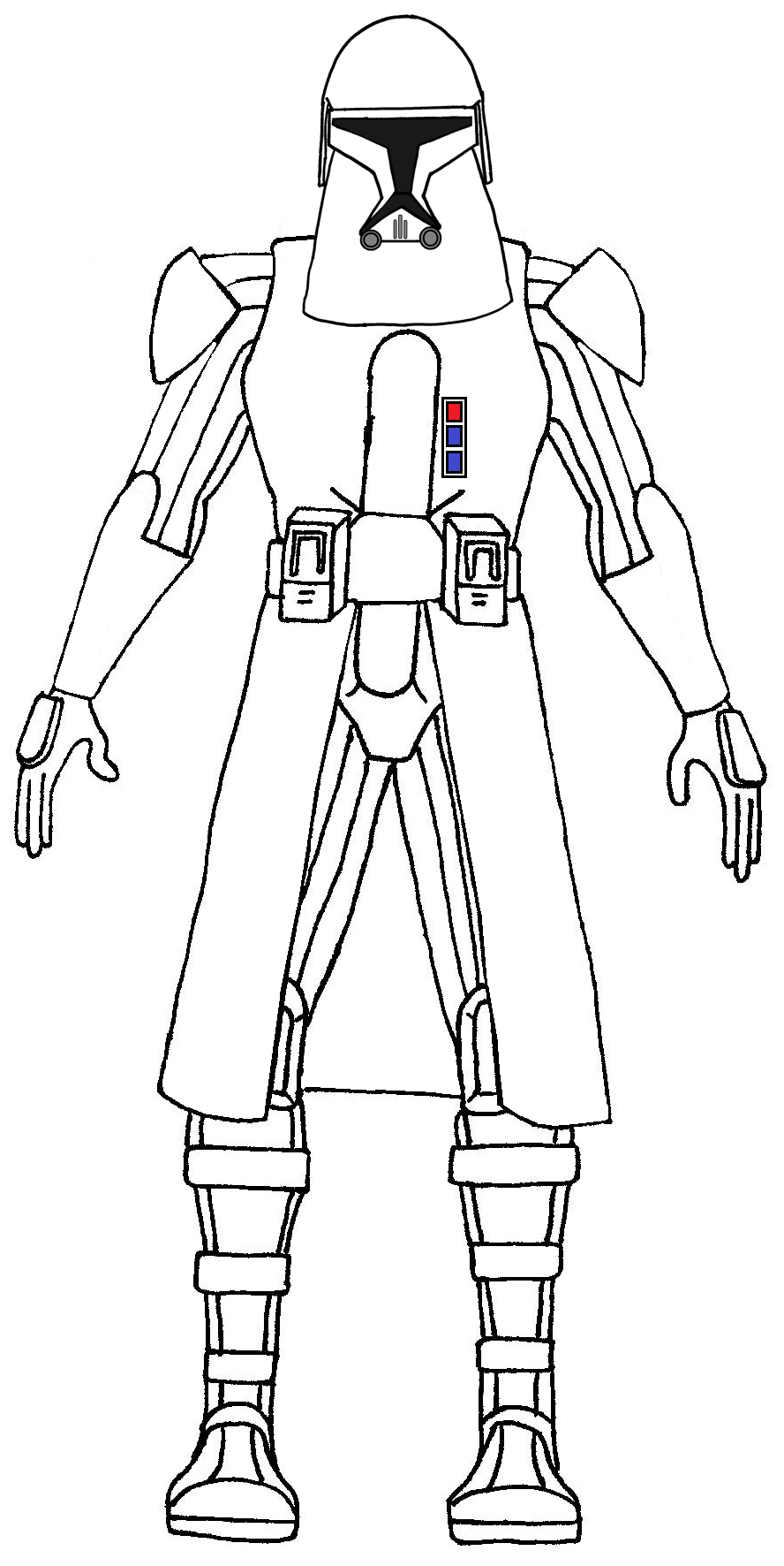 Snow trooper free coloring pages for Clone trooper coloring pages