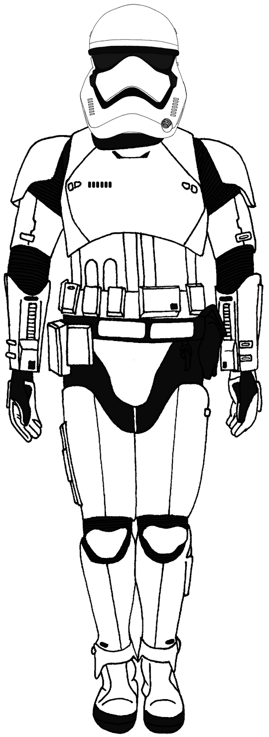 First Order Troopers Coloring Pages Sketch Coloring Page