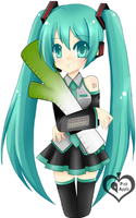 Miku Hatsune by p-inkapple