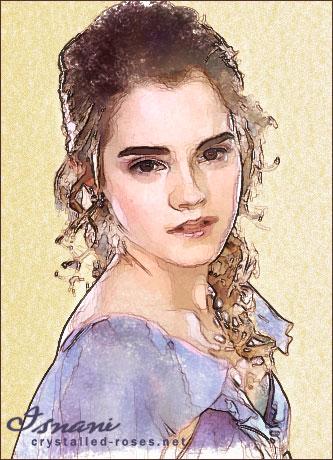 Yule Ball Hermione Granger by isnani