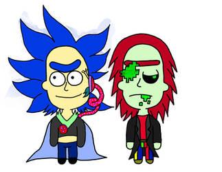 RickTron and Virus Rick by VanTron64Gamer
