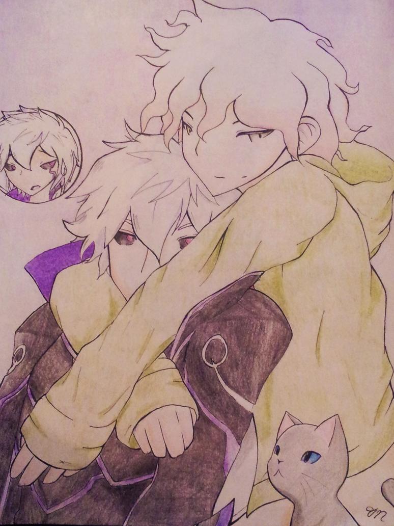 Diabolic Esper and Nagito by PokeHihi