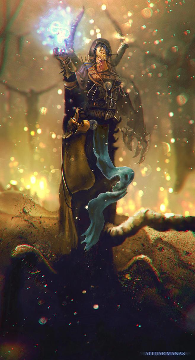 Centipede witch by AITUARMANAS