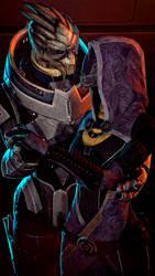 Mass Effect - Garrus and Tali by haestromsfm