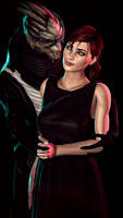 Mass Effect - Femshep and Garrus