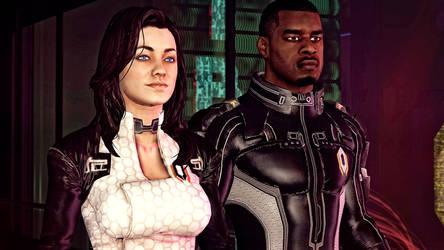 Mass Effect - Miranda Lawson and Jacob Taylor