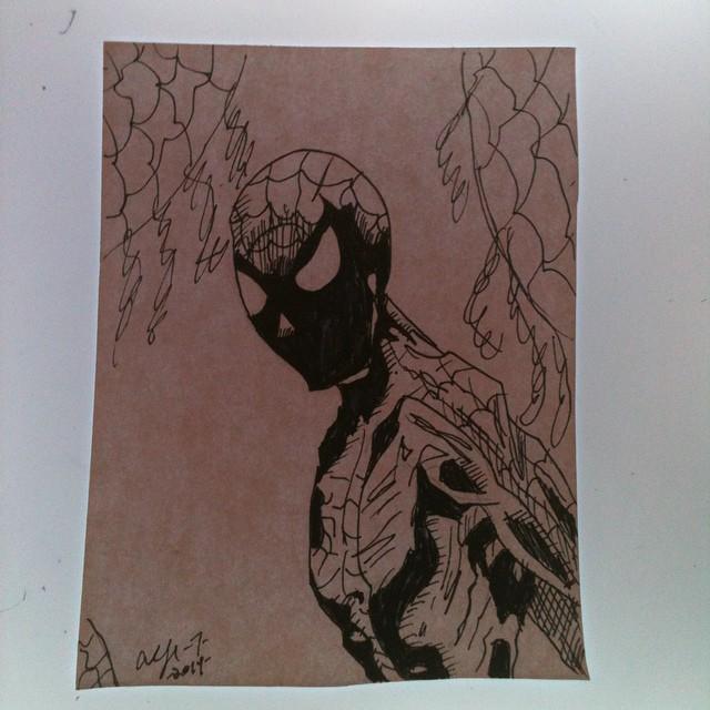 Inktober 9- Spider-Man by Lance-Danger