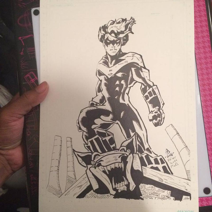 Nightwing Inks by Lance-Danger