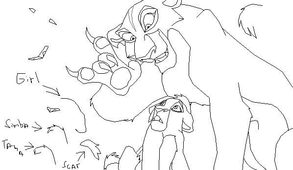 Zira and kovu base by animals369 on deviantart for Kovu coloring pages