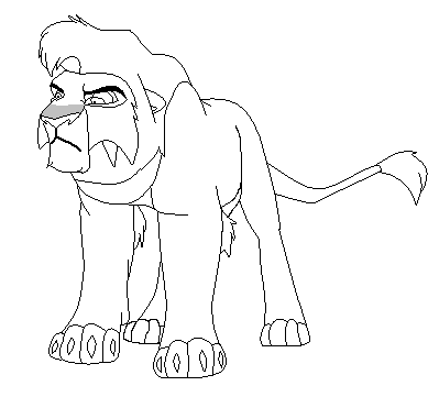 Kovu base by animals369 on deviantart for Kovu coloring pages