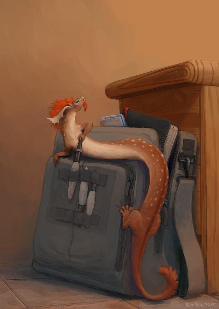 Tiny Art Dragons - Watercolour by Karbik