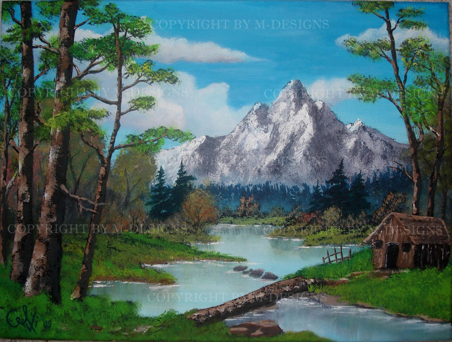 Cabin In The Woods Tribute To Bob Ross By Celki On