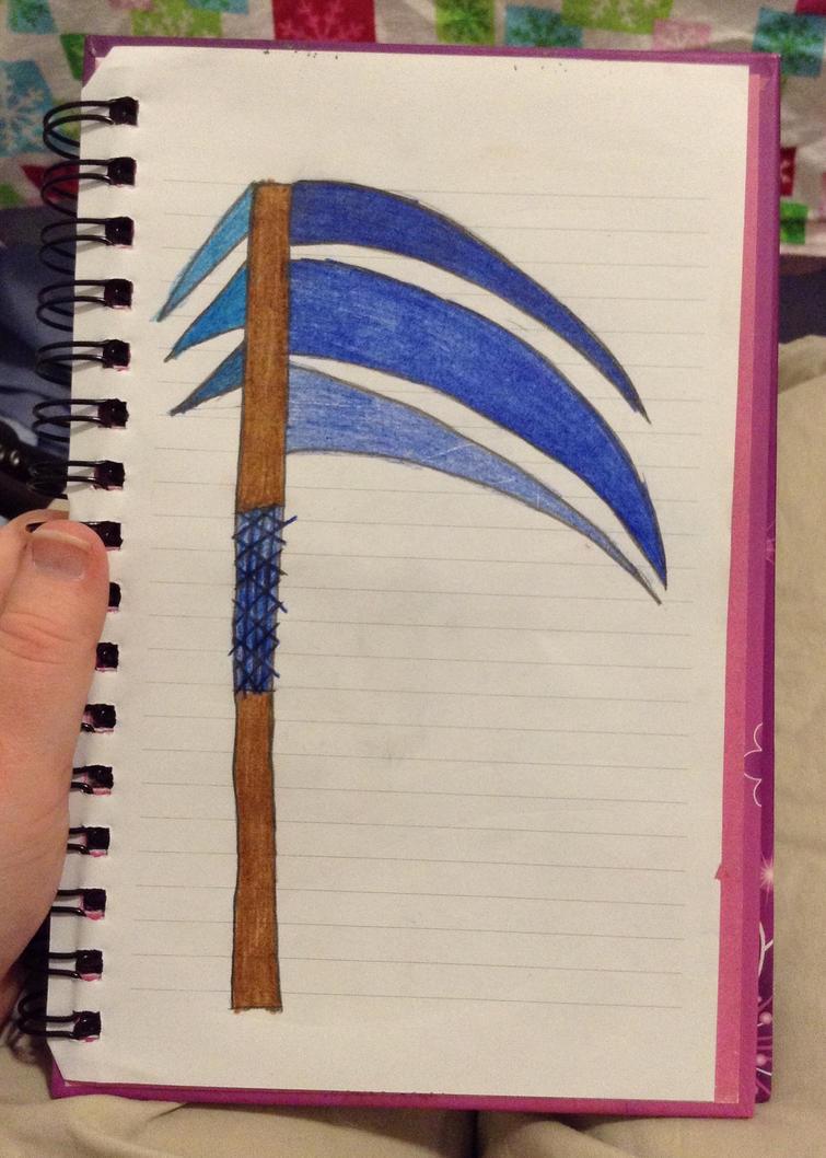 A scythe  by redrosabell