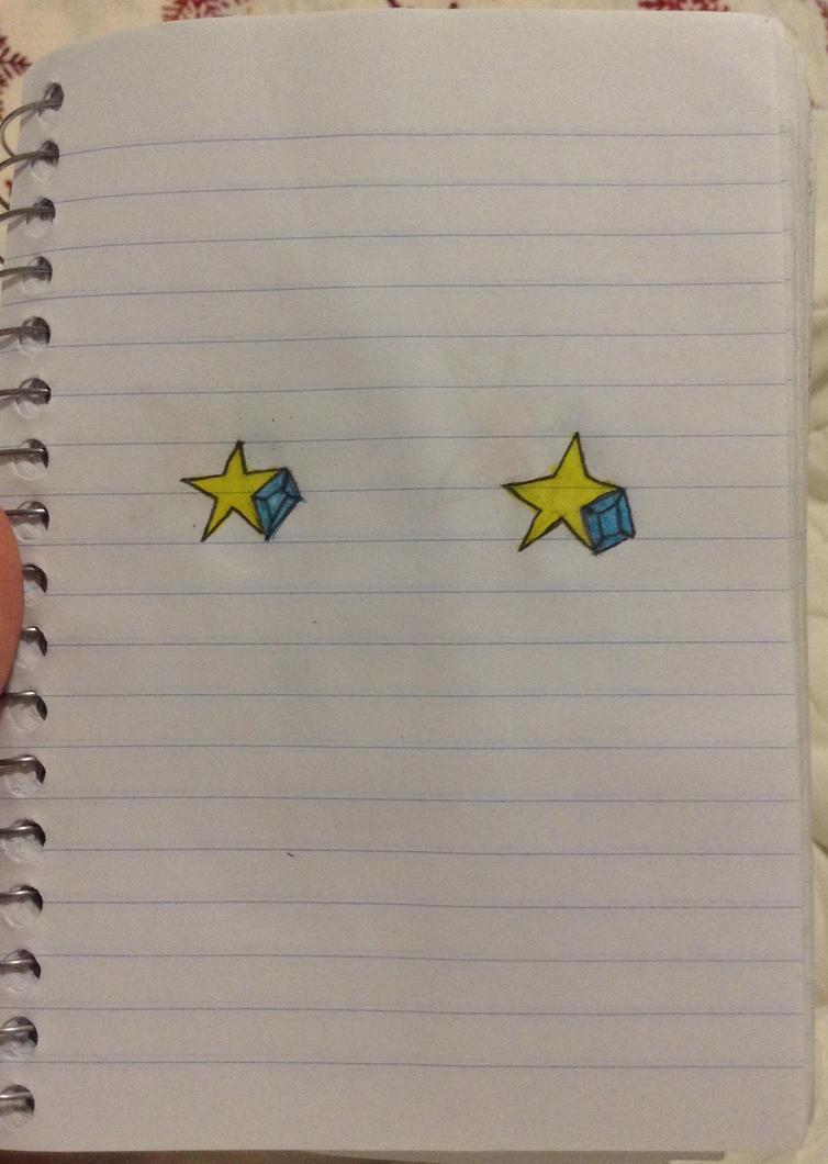 Star earrings  by redrosabell