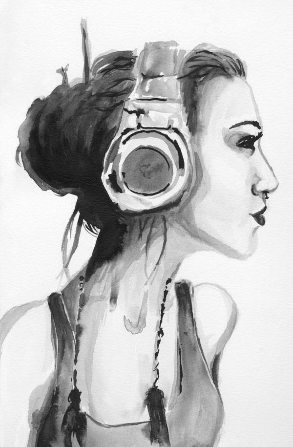 Headphone Hipster by dani-kelley